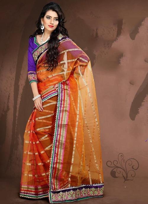 Orange color sarees