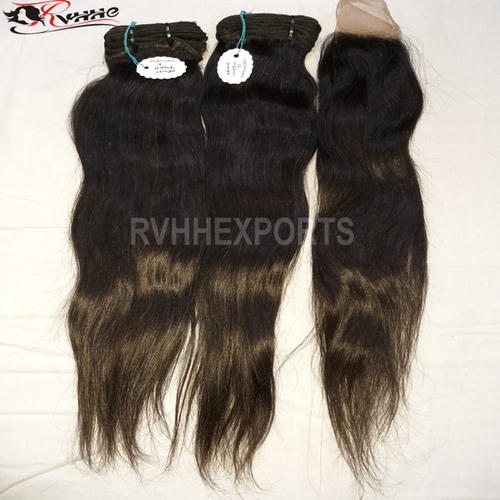 Virgin Temple Straight Hair Black