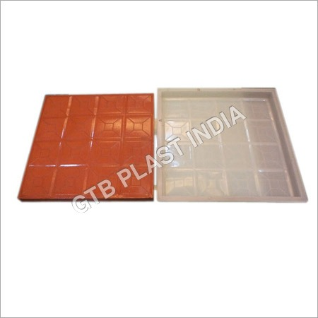 Square Designer Chequered Tiles Moulds