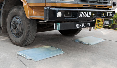 Mobile Axle Weigh Pads
