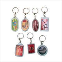 Digital print Crystal Keychains