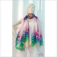 Digital Print Viscose Wool Stoles