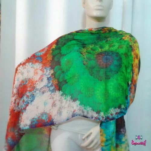 Digital Print Ladies Woolen Stoles