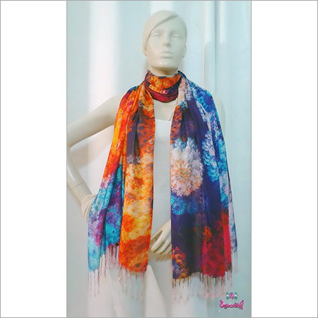 Digital Print Wool Scarves