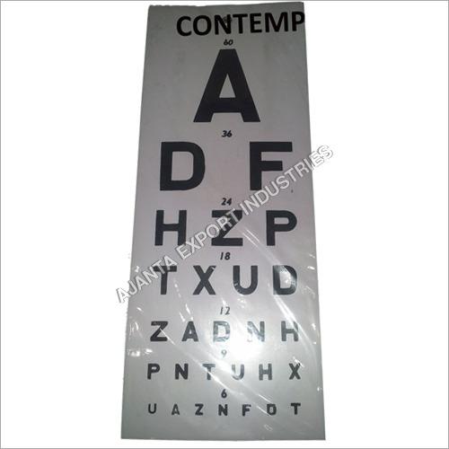 New Snellen Plastic Eye Test Wall Eye Chart 22 L X 11 W Full Size