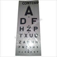 NEW SNELLEN PLASTIC EYE TEST WALL EYE CHART 22