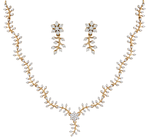 Simple Yet Chic Diamond Necklace Set