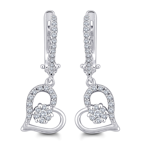 Exclusive Heart Shape Diamond Earring