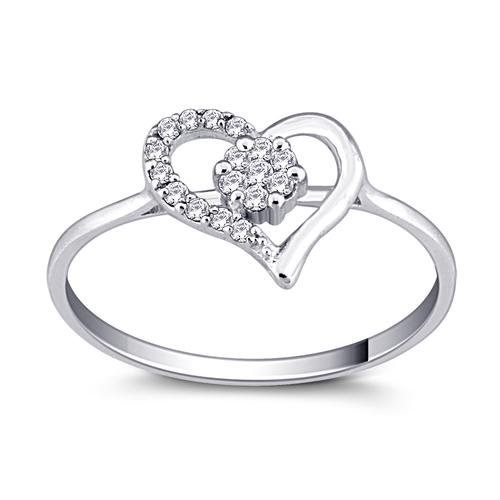 Beautiful Heart Shape Diamond Ring