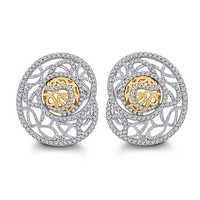 Contemporary Diamond Earring