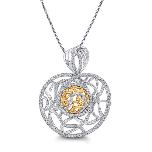 Contempory Designer Diamond Pendant
