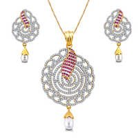 Designer Diamond Pendent Set