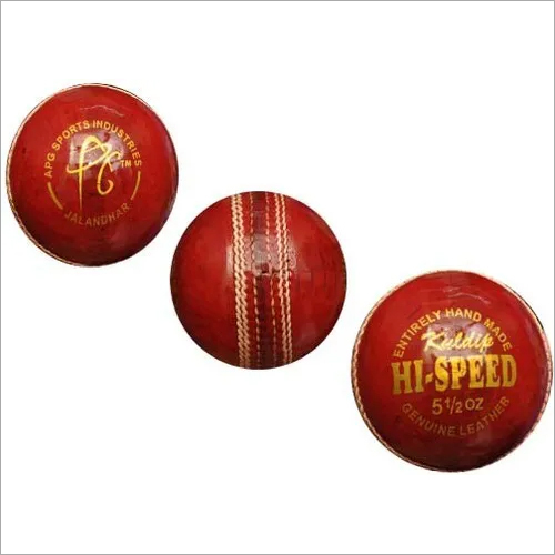 Leather Red Cricket Ball