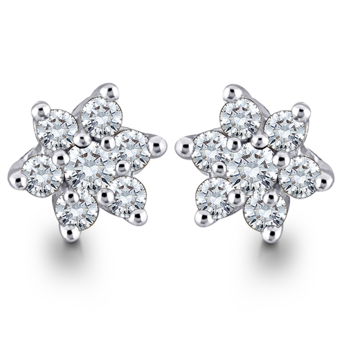 Sparkling Star Shape Diamond Earring