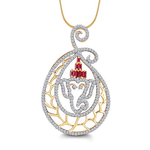 Lord Ganapati Diamond Pendent