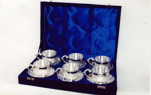 Silver Cup Saucer