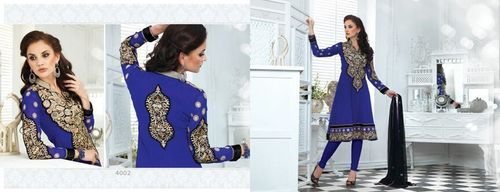 Embroidery worked Anarkali Suit