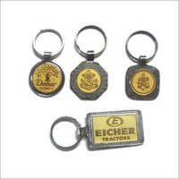 CHROME WITH GOLD PLATED  KEY CHAIN (NEW)