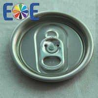 Aluminum easy open end for beverage