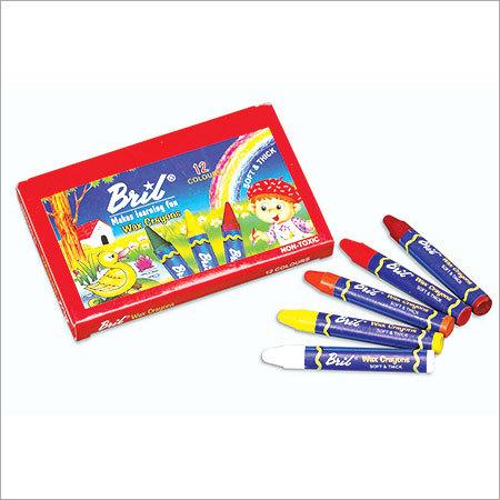 Wax Crayons 12 Col