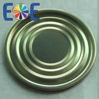 Tinplate bottom easy open end
