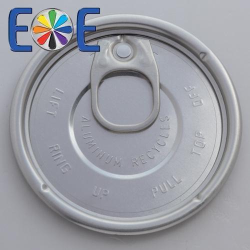 73mm aluminum can easy open end|300 dry food lid|Easy open end manufacturer|Enpack eoe