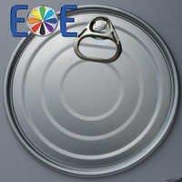 153.4mm aluminum can easy open end|603 PET can lid|Easy open end manufacturer|aluminum eoe