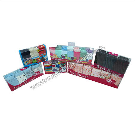 Transparent Pvc Boxes For Under Garments With Printing