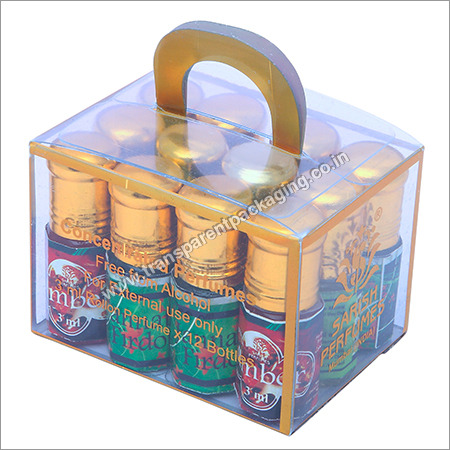 Transparent Pvc Box For Perfume With Foil Stamping