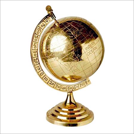 Brass World Globe