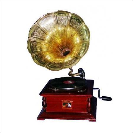 Brass Horn Gramophone