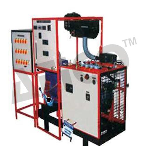 Multicylinder four stroke diesel engine test rig with hydraulic