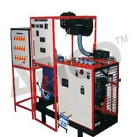 Multicylinder four stroke diesel engine test rig with hydraulic