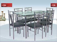 Outdoor Stainless Steel Dining Table
