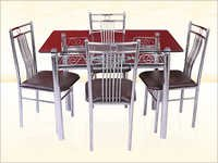 Square Stainless Steel Dining Table