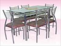 Glass Stainless Steel Dining Room Tables