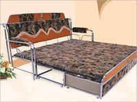 Contemporary Stainless Steel Bed