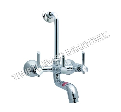 Wall Mixer With Bend & Overhead Shower