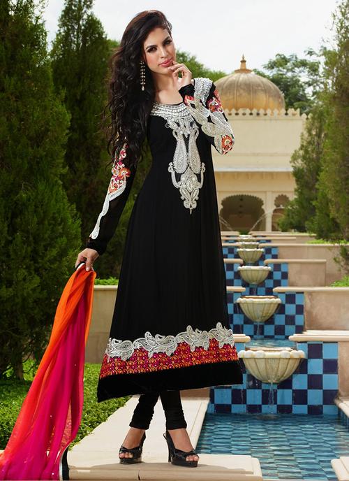Black Anarkali Salwar Suits