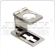 Brass Textile Eye Glass Nickel 10X