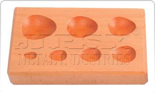 Wood Dapping Block7 KVTTear Drop Shape