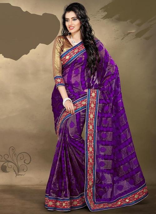 Purple sarees