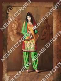 Chanderi Patiala Suits
