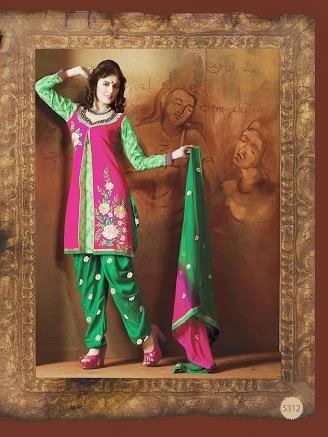 Embroidered Punjabi Patiyala Suits