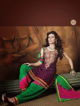 Unstitched Patiyala Salwar Suits