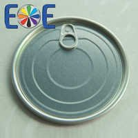 Metal lid for canned food