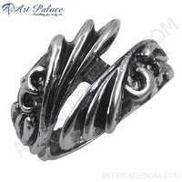 Latest Design 925 Sterling Plain Silver Ring, Hot Sale Silver Ring