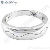 Plain Silver Ring, 925 Sterling Silver Jewelry