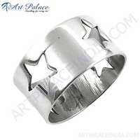 Newest Style Fashionable Plain Silver Ring, 925 Sterling silver Jewelry