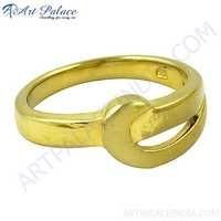 Hottest Product Plain Silver Gold Plated Ring, 925 Sterling Silver Jewelry